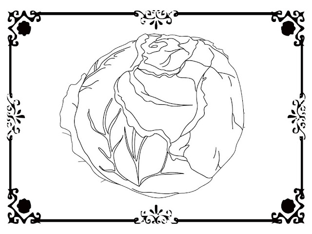 coloring pages lettuce leaf