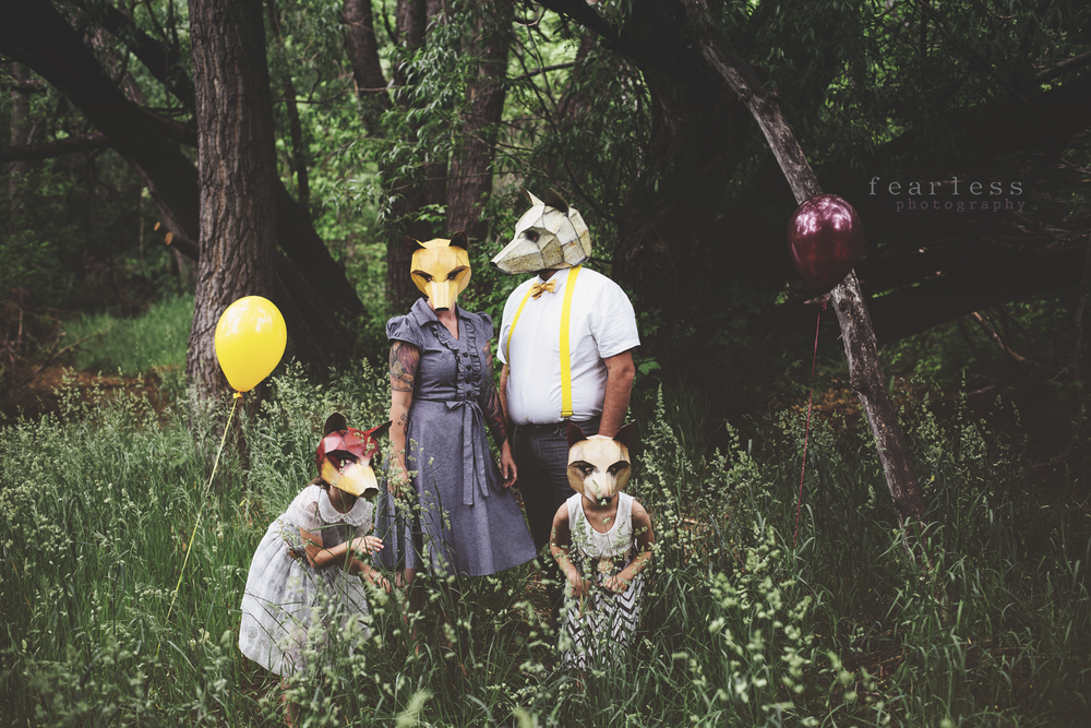 Fox Familie - Wintercroft Masken - Fearless Photography