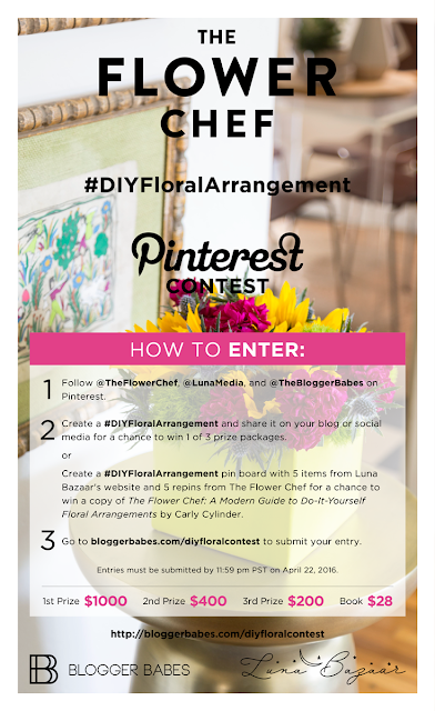 DIY floral arrangement giveaway blogger babes vertically challenged mom