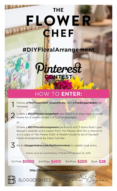 DIY floral arrangement giveaway blogger babes vertically challenged mom
