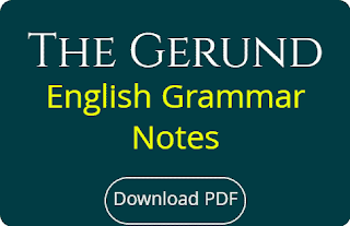 The Gerund English Grammar Notes