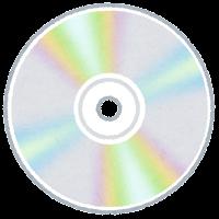 ディスクメディアのイラスト(音楽CD)