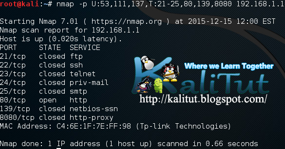 nmap --top-ports