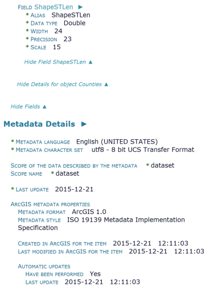 ArcGIS Metadata Conversion Tools: Synchronize
