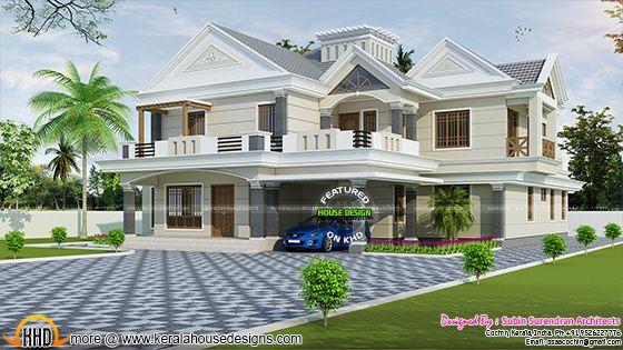 Luxury modern sloping roof 4 bedroom home