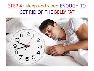 sleep and sleep enough to get rid of the belly fat