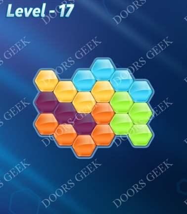 Block! Hexa Puzzle [Rainbow A] Level 17 Solution, Cheats, Walkthrough for android, iphone, ipad, ipod