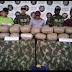 Capturados tres sujetos con más de 160 kilos de estupefacientes.