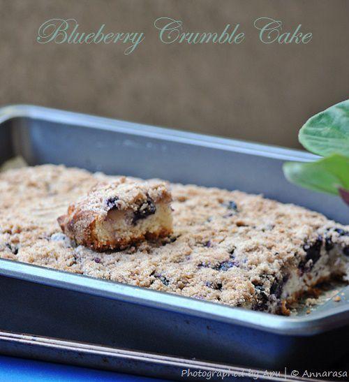 Blueberry Crumble Coffeecake | Eggless Baking