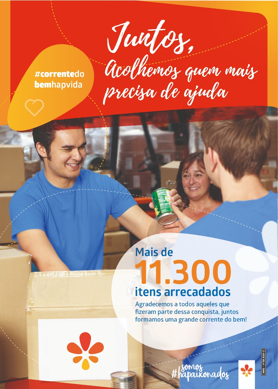 Mais de 11 mil produtos são doados pela Campanha Corrente do Bem ccb944dbd89b2