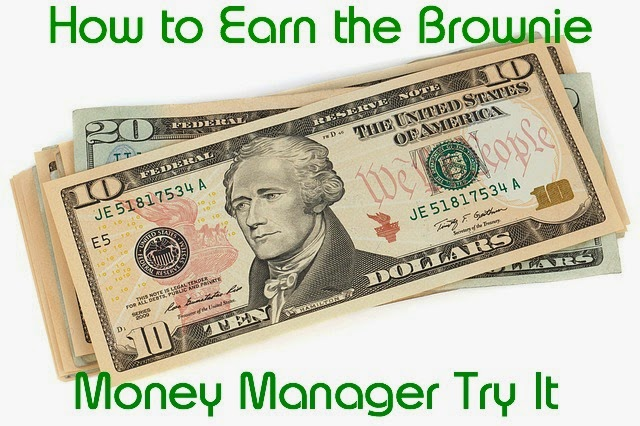Lesson plan on how to earn the Brownie Girl Scout Money Manager badge