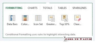 "alt=""quick analysis in MS excel"""
