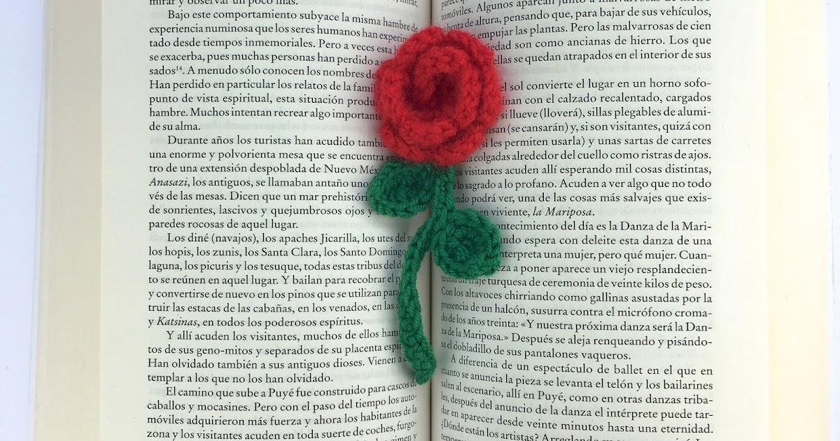 Crafteando, que es gerundio: Patrón: Rosa de ganchillo con tallo y ...