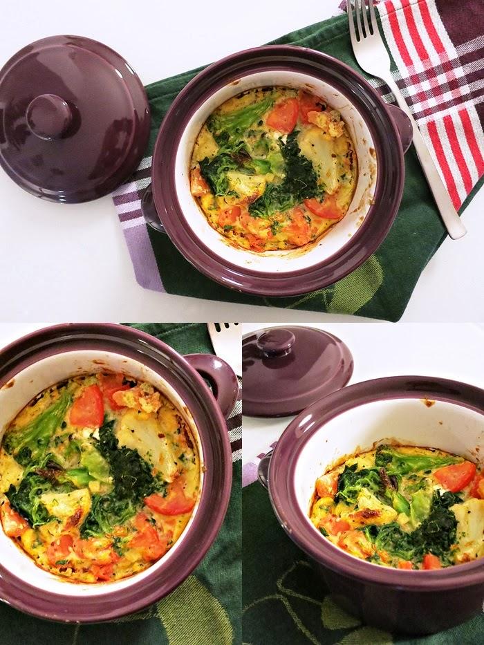 Gemüseomelett aus dem Ofen