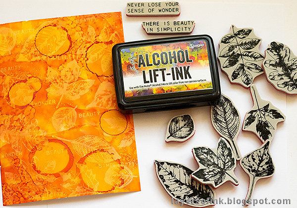 Layers of ink - Alcohol Ink Lift Background Tutorial by Anna-Karin Evaldsson, using Ranger Alcohol Lift-Ink on Yupo paper