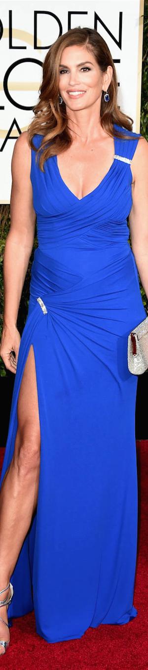 Cindy Crawford 2015 Golden Globes