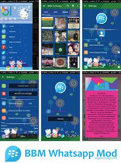BBM MOD Terbaru Whatsapp Blue Hello Kitty V2.11.0.16.
