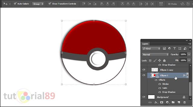 Cara mudah membuat pokeball atau pokemon ball dengan photoshop