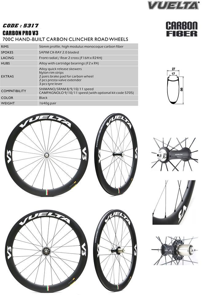 CHOO HO LEONG (CHL) Bicycle: Vuelta 700C Carbon Road Bike