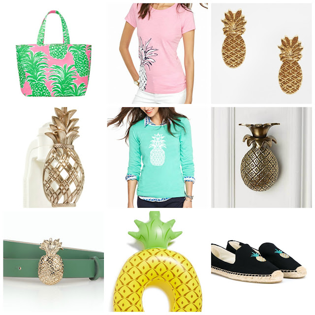pineapple lilly pulitzer anthropologie door knocker pineapple sweater espadrilles pineapple pool float