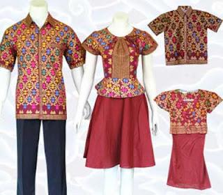 Model Batik Sarimbit Keluarga Modern - Model kedua