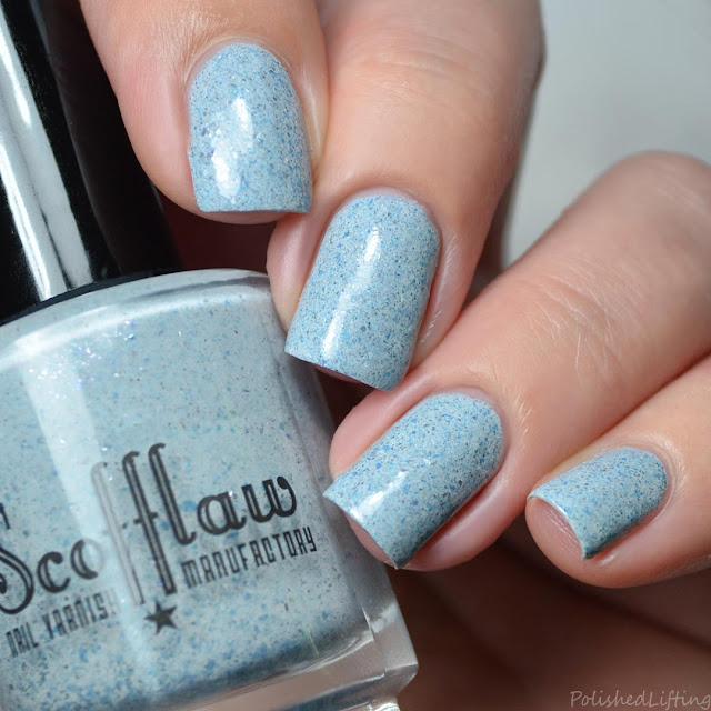 gray blue crelly nail polish