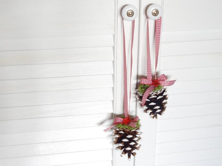 DIY Weihnachten Tannenzapfen Anleitung Dekoration Natur