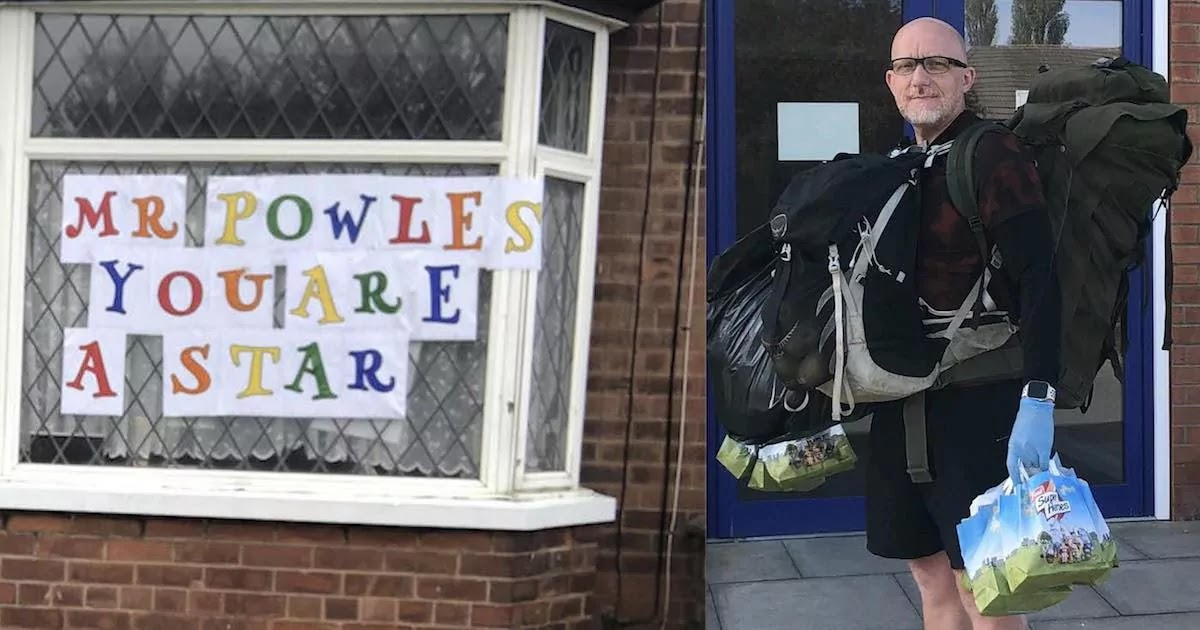 Hero Teacher In The UK Has Delivered 7,500 Packed Lunches To Kids Unable To Get Their School Meals During Lockdown