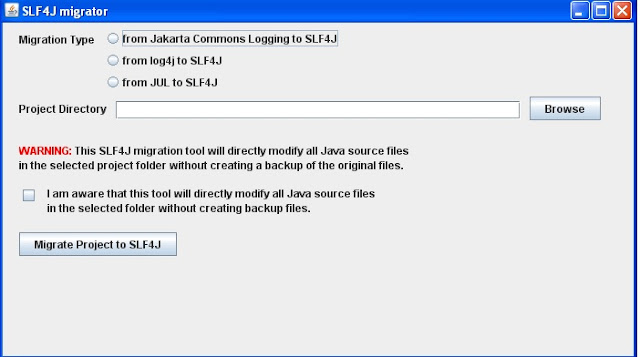 Convert Easily Your Sourcecode from  Log4j to Logback Using Migration Tool