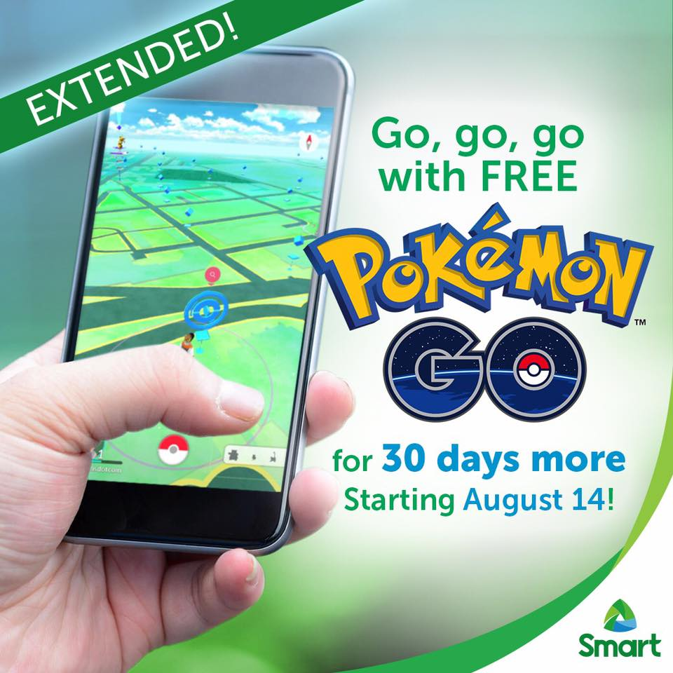 30 days free access to Pokemon GO by Smart