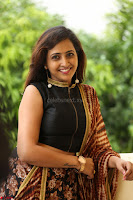 Lasya looks super cute in black choli Saree at Raja Meru Keka Press Meet ~  Exclusive 029.JPG