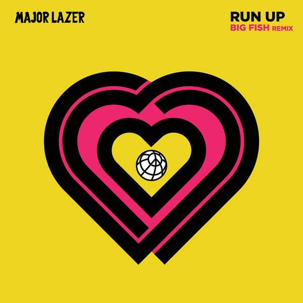 Major Lazer - Run Up (feat. PARTYNEXTDOOR & Nicki Minaj) [Big Fish Remix] - Single Cover