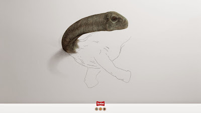 Perspectiva anamorfica y publicidad impresa creatividad - advertising and creative drawings