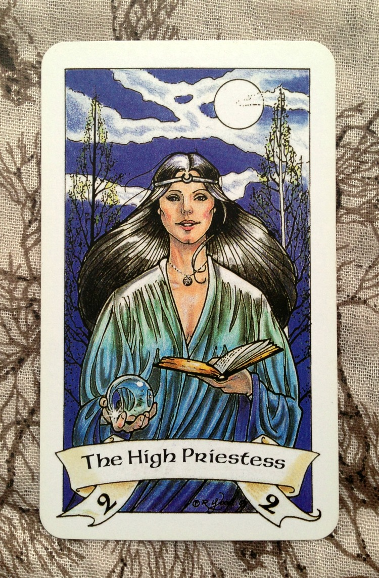 High Priestess Full Colorful Deck Major Stock Illustration: The Bluebird & The Robin : Tarot