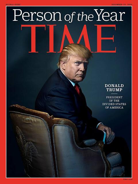 """O presidente eleito dos EUA, o bilionário Donald Trump, foi escolhido a personalidade de 2016 pela revista norte-americana """"Time"""""""