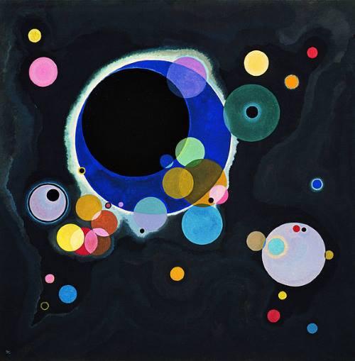 Vários Círculos, pintura de Kandinsky.