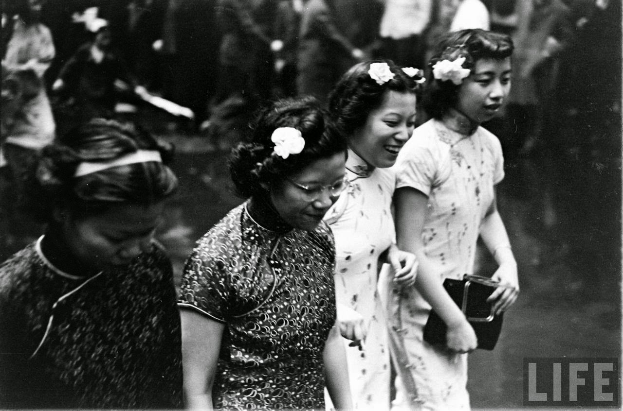 Black and White Photographs of Chinese Humiliation Parade