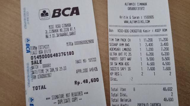 Pengalaman Belanja Menggunakan Kartu Flazz BCA di Minimarket - Bankcara.com