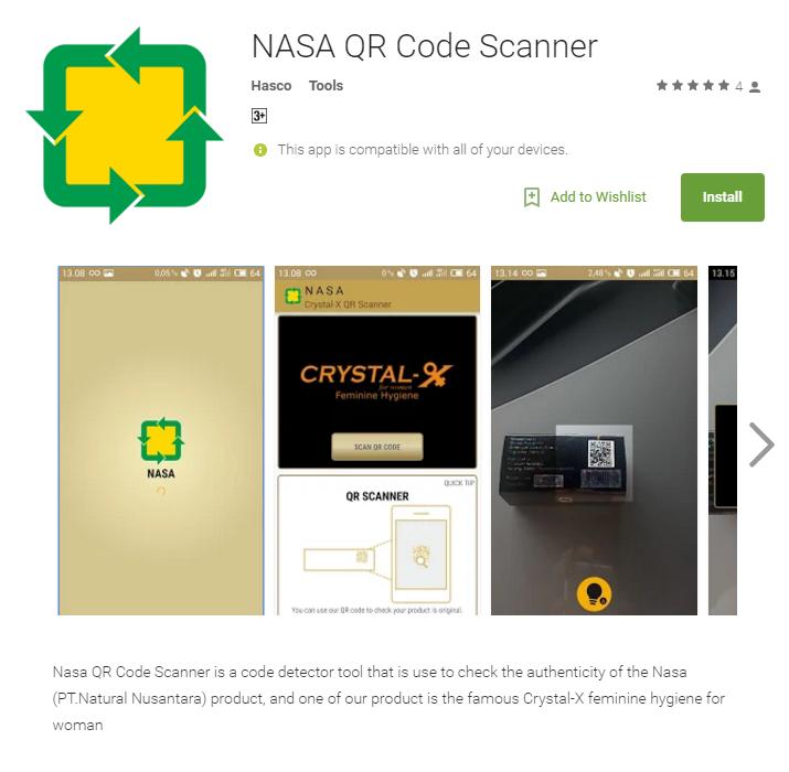 NASA QR Code Scanner