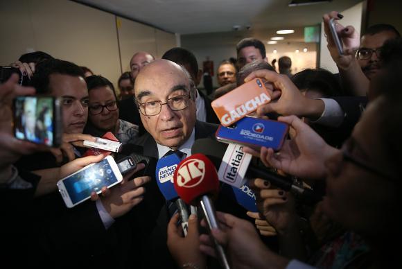 Deputado Bonifácio de Andrada (PSDB-MG), relator da denúncia contra Temer na CCJ da Câmara, fala à imprensa)Wilson Dias/Agência Brasil