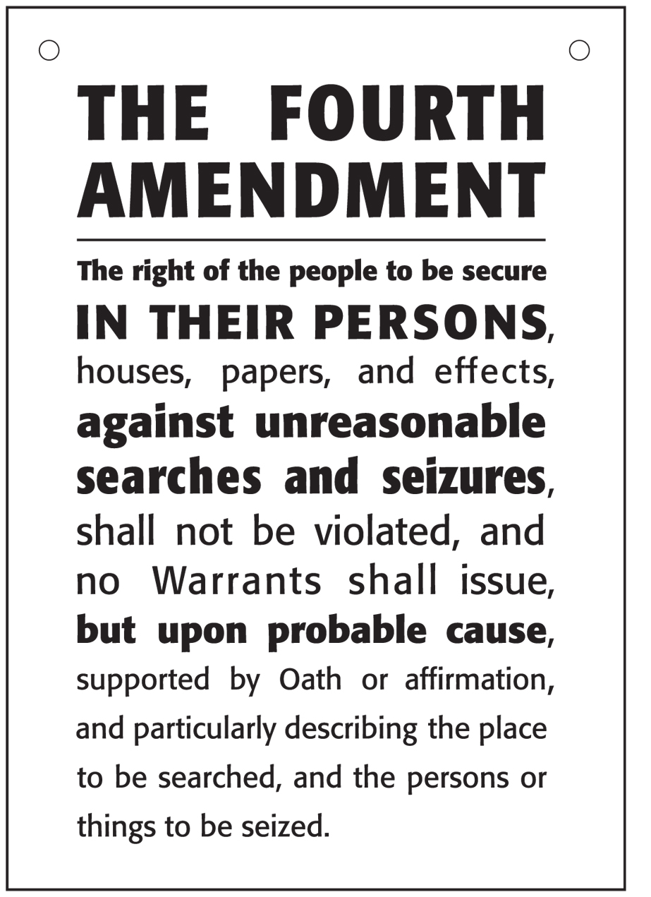 the importance of the fourth amendment One aspect of the constitution, the fourth amendment, is of particular interest   such a balancing test also invites consideration of the importance of the state's.