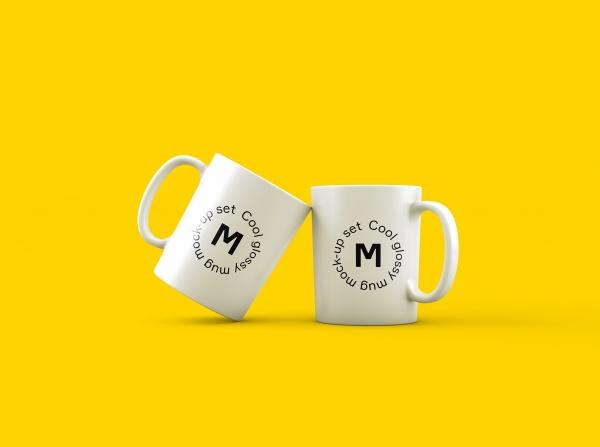 Mug Logo Design mockup free psd template