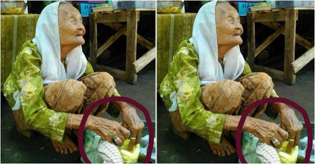 Foto Nenek Jualan Ketupat dengan Kondisi Mata Begini Jadi Viral, Ternyata Ini Kisah Sebenarnya