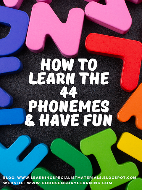 How to learn the 44 phonemes