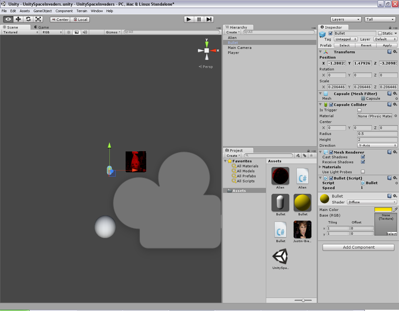 Programmer's Ranch: Unity3D: Space Invaders (Part 3 - Prefabs)