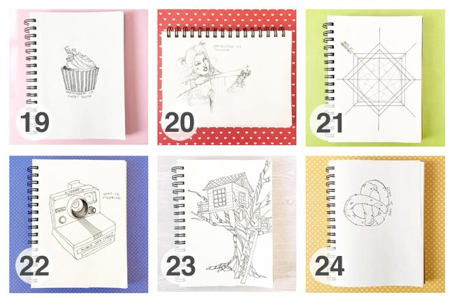 #YayEveryDay2016 Drawing Challenge - September | Yeti Crafts