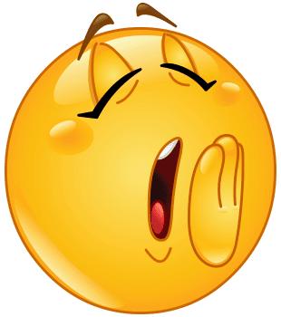 Yawn emoji