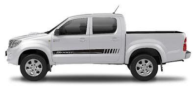 Pick-up Hilux Toyota cabine dupla com kit adesivo TH1 Sport lançamento X11Auto