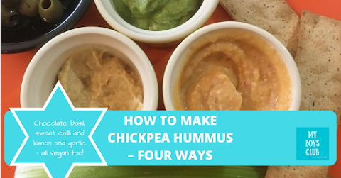 How to Make Chickpea Hummus – Four Ways