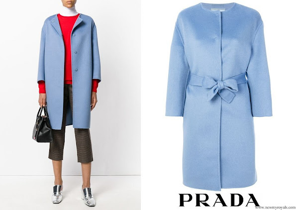 Crown Princess Victoria wore PRADA single breasted coat